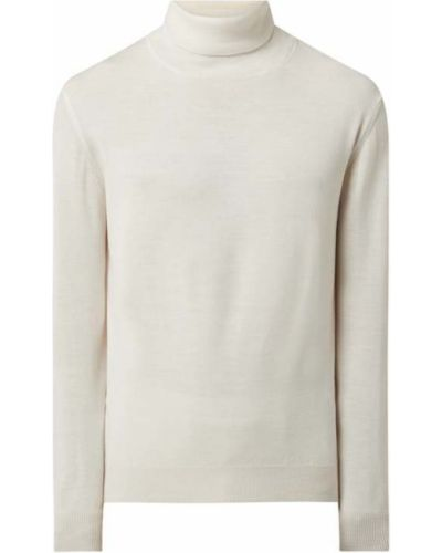 Biały sweter wełniany Digel