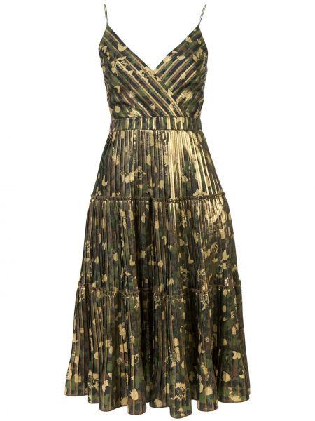 Приталенное платье миди - зеленое Nicole Miller