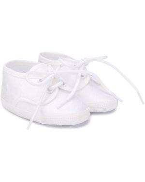 Białe tenisówki koronkowe sznurowane Aletta