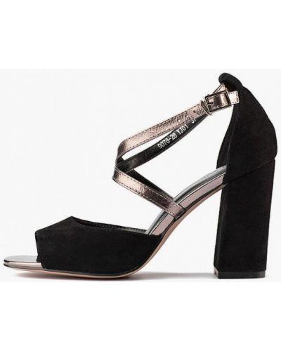 Кожаные босоножки - черные Stefano Lompas