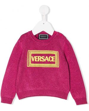 Джемпер с логотипом Young Versace