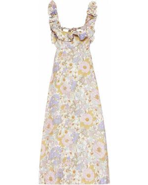 Летнее платье миди льняное Zimmermann