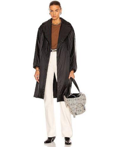 Черное пальто с карманами Max Mara