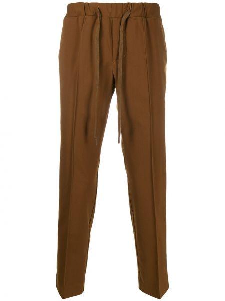 Коричневые прямые брюки с карманами новогодние Entre Amis