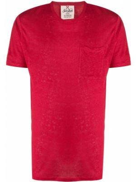 Koszula krótkie z krótkim rękawem z kieszeniami z łatami Mc2 Saint Barth