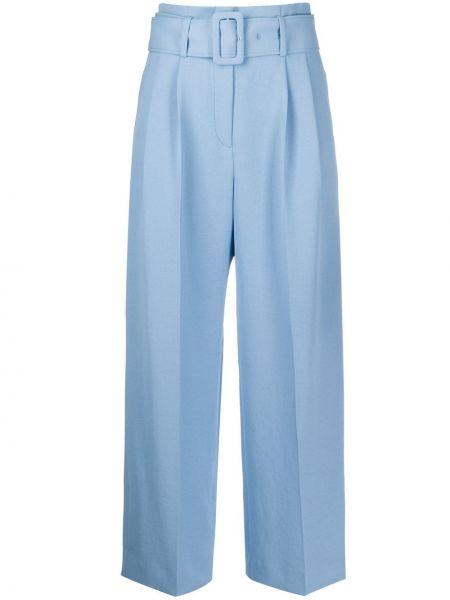 Свободные брюки с карманами с поясом Sandro Paris
