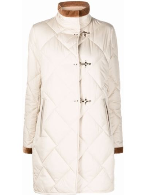 Стеганая куртка - бежевая Fay