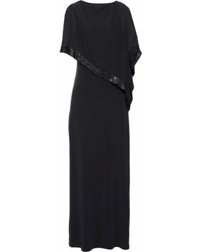 Платье с пайетками с оборками Bonprix
