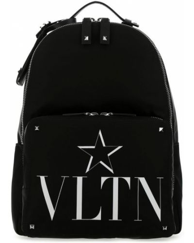 Czarny plecak sportowy na co dzień z printem Valentino