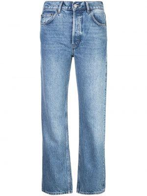 Прямые джинсы классические - синие Reformation