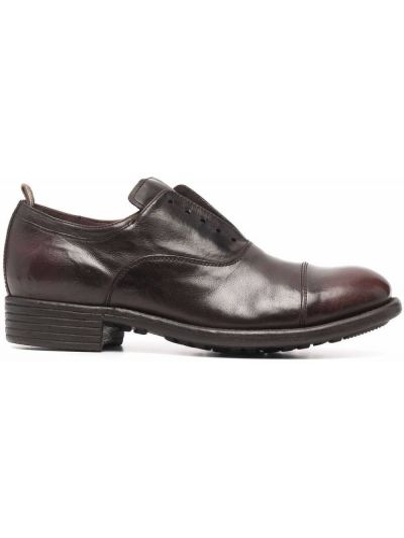 Коричневые кожаные туфли Officine Creative