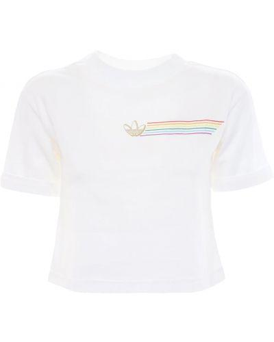 Ватная хлопковая белая футболка Adidas Originals