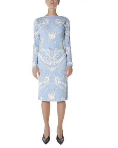 Niebieska sukienka Emilio Pucci
