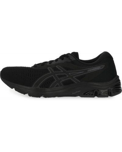 Черные кроссовки беговые для бега с сеткой Asics