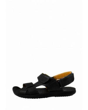 Кожаные сандалии - черные Zlett