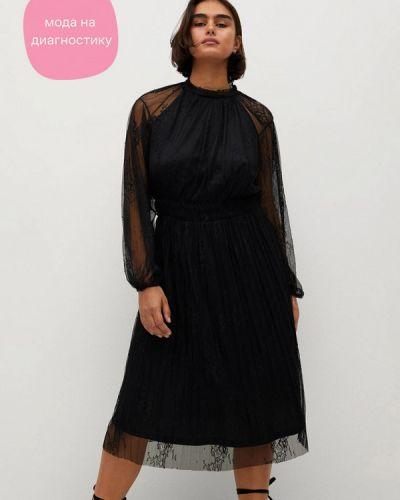 Черное вечернее платье Violeta By Mango