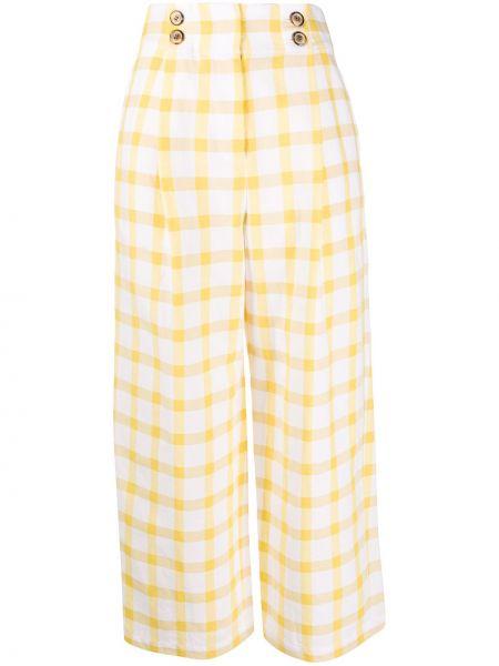 Szerokie spodnie z wysokim stanem z kieszeniami Sjyp