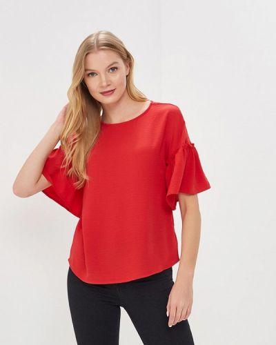 Красная блузка с рюшами Zarina