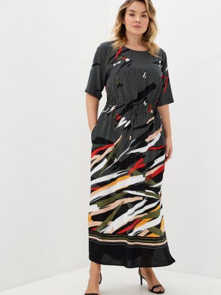 Повседневное платье черное весеннее Intikoma