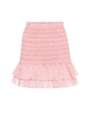 Плиссированная ватная хлопковая розовая юбка мини Jonathan Simkhai