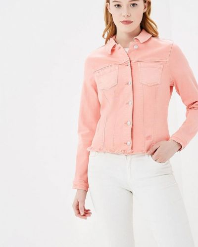 Джинсовая куртка весенняя розовая S.oliver