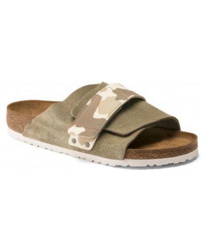 Sandały płaskie - beżowe Birkenstock