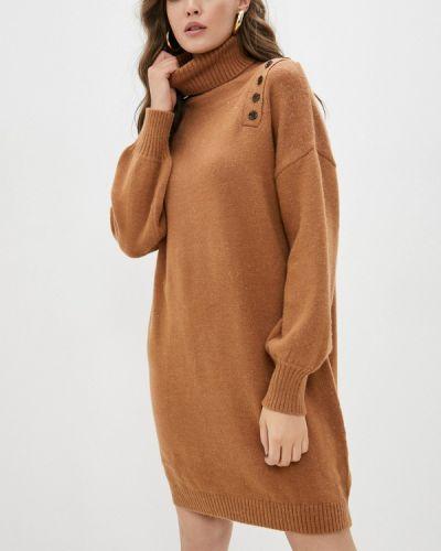 Вязаное платье - коричневое By Swan