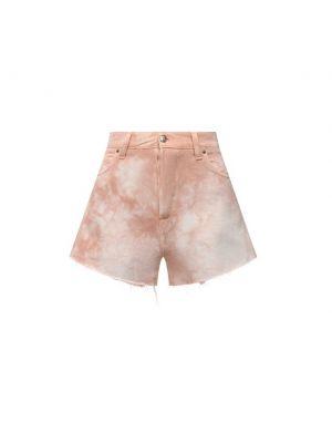 Розовые хлопковые джинсовые шорты Two Women In The World