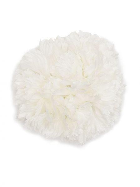 Biała broszka Saint Laurent