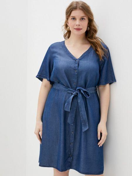 Синее джинсовое платье Zizzi