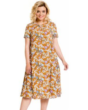Летнее платье с цветочным принтом из штапеля Novita