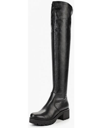 Черные кожаные ботфорты Lamania