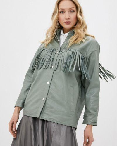 Кожаная куртка хаки снежная королева