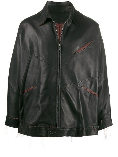 Klasyczna czarna długa kurtka z długimi rękawami Sulvam