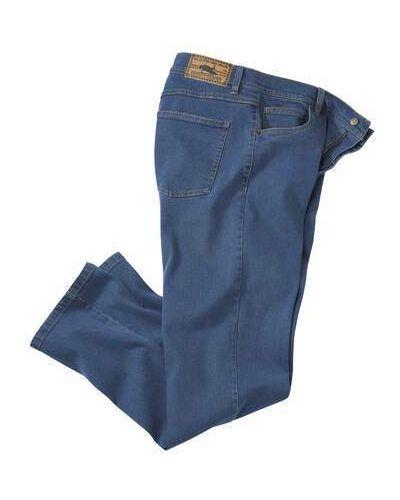 Синие прямые джинсы классические с карманами Atlas For Men
