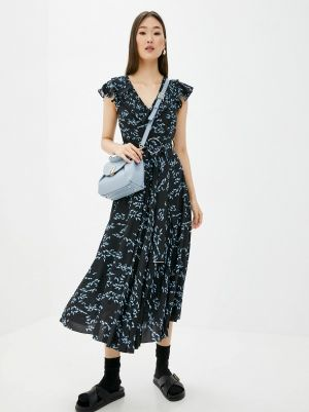 Повседневное платье черное весеннее Markus Lupfer