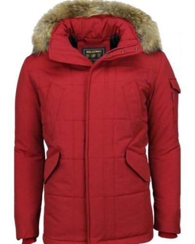 Czerwona długa kurtka oversize Beluomo