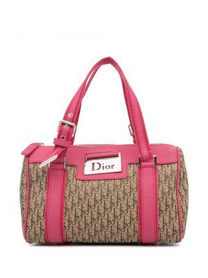 Beżowa torebka srebrna Christian Dior