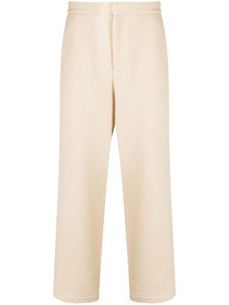 Хлопковые прямые укороченные брюки с карманами Opening Ceremony