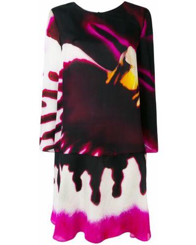 Платье мини длинное с принтом Moschino
