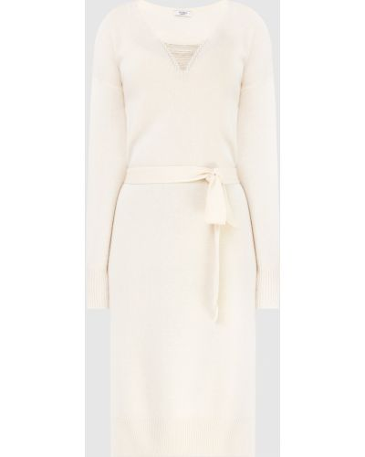 Шелковое платье миди - бежевое Peserico