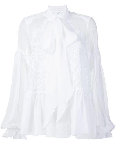 Z rękawami koronkowa bluzka z haftem Givenchy