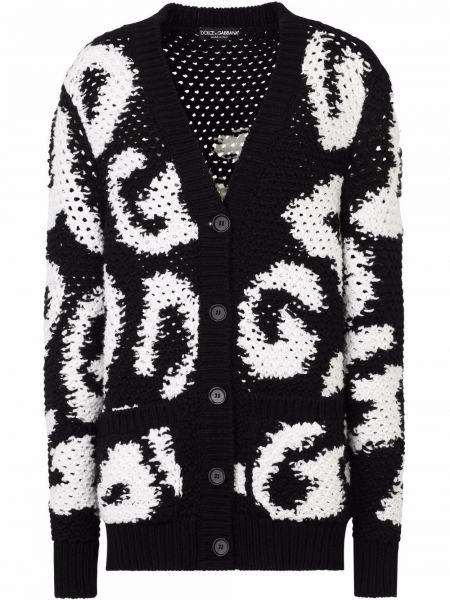 Черная кофта с вырезом Dolce & Gabbana