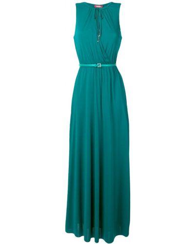 Платье макси без рукавов - зеленое Max Mara Studio
