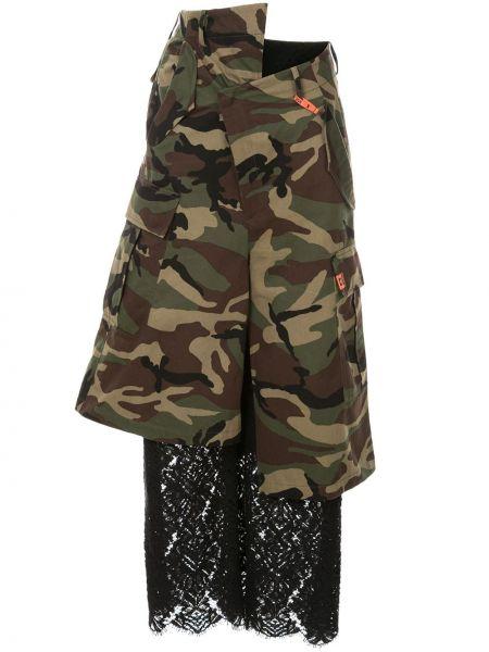 Черные нейлоновые укороченные брюки с поясом Maison Mihara Yasuhiro