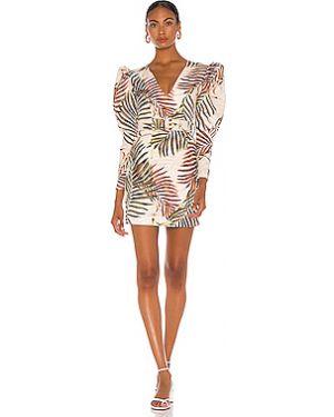 Платье мини с поясом на молнии Patbo
