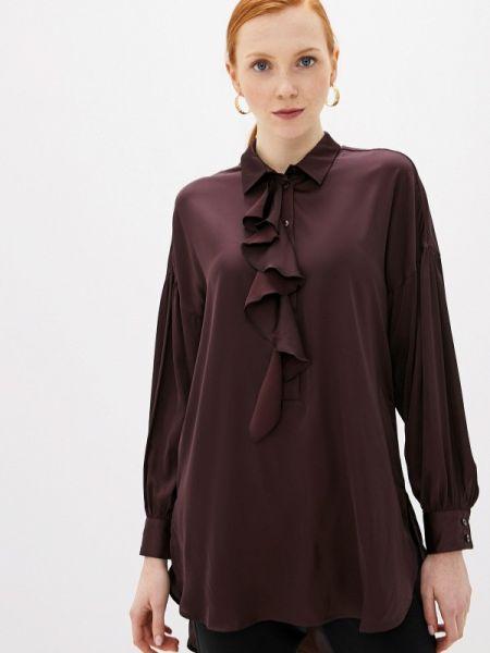 Блузка с рюшами бордовый Villagi