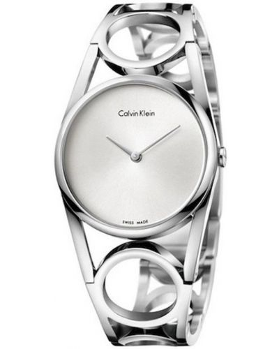 Szary zegarek kwarcowy srebrny Calvin Klein