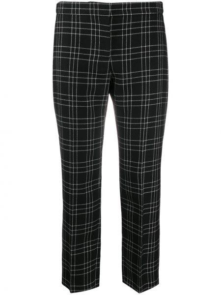 Брючные шерстяные укороченные брюки айвори Alexander Mcqueen