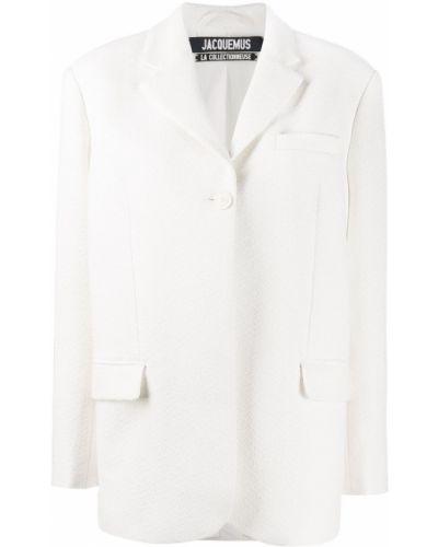 Удлиненный пиджак с карманами с воротником свободного кроя Jacquemus